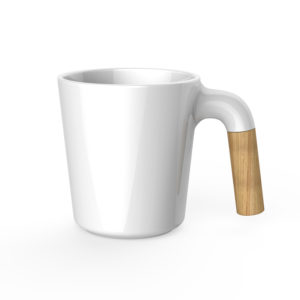 mug with wooden handle
