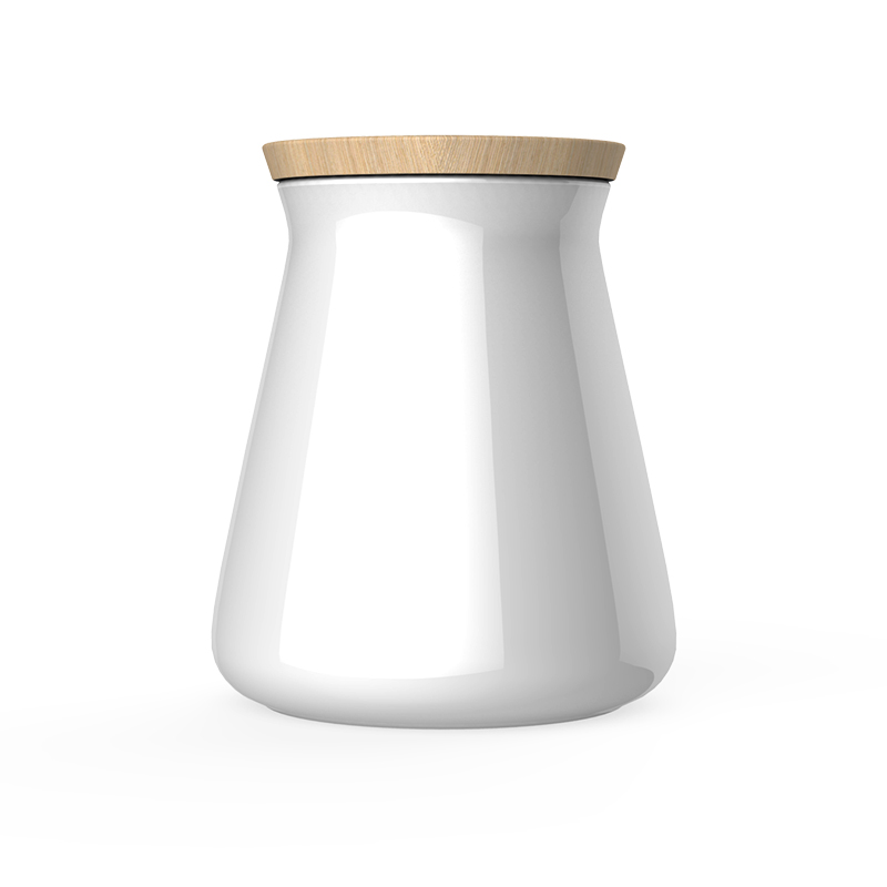 porcelain conical canister