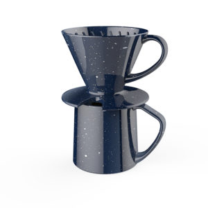 starry pour over coffee dripper with mug