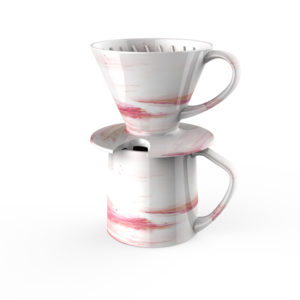 marble pour-over coffee maker