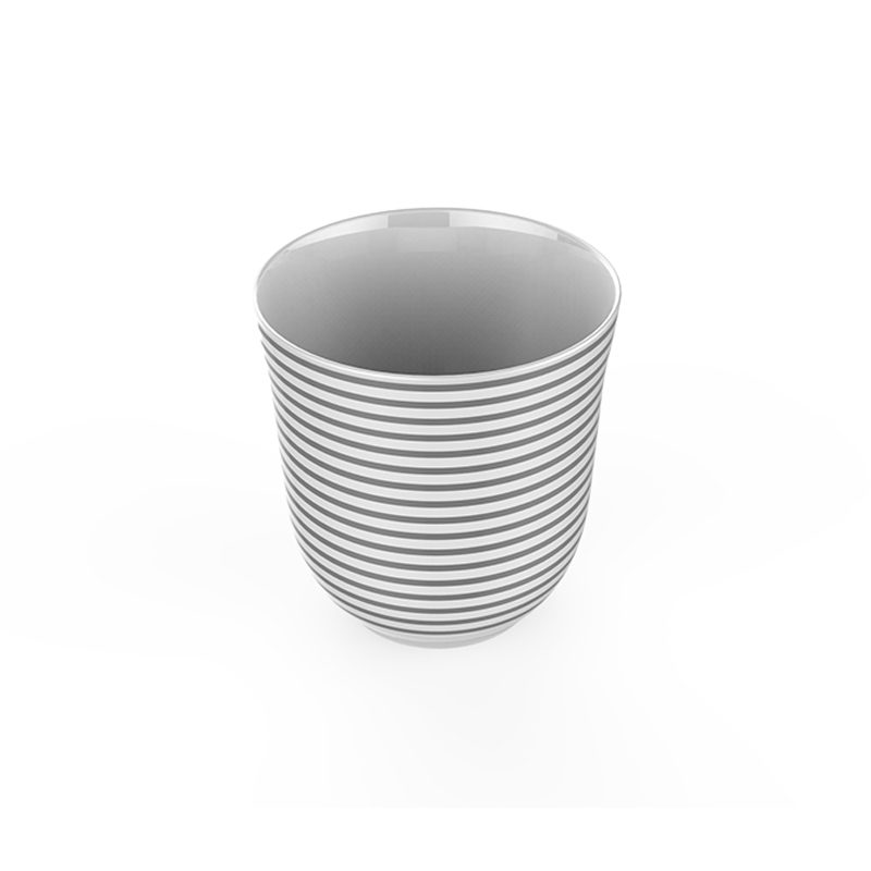 stripe tea cup