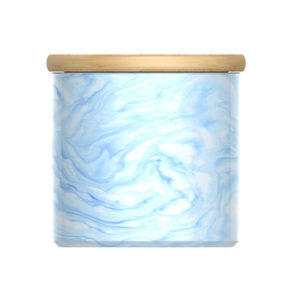 marble ceramic canister