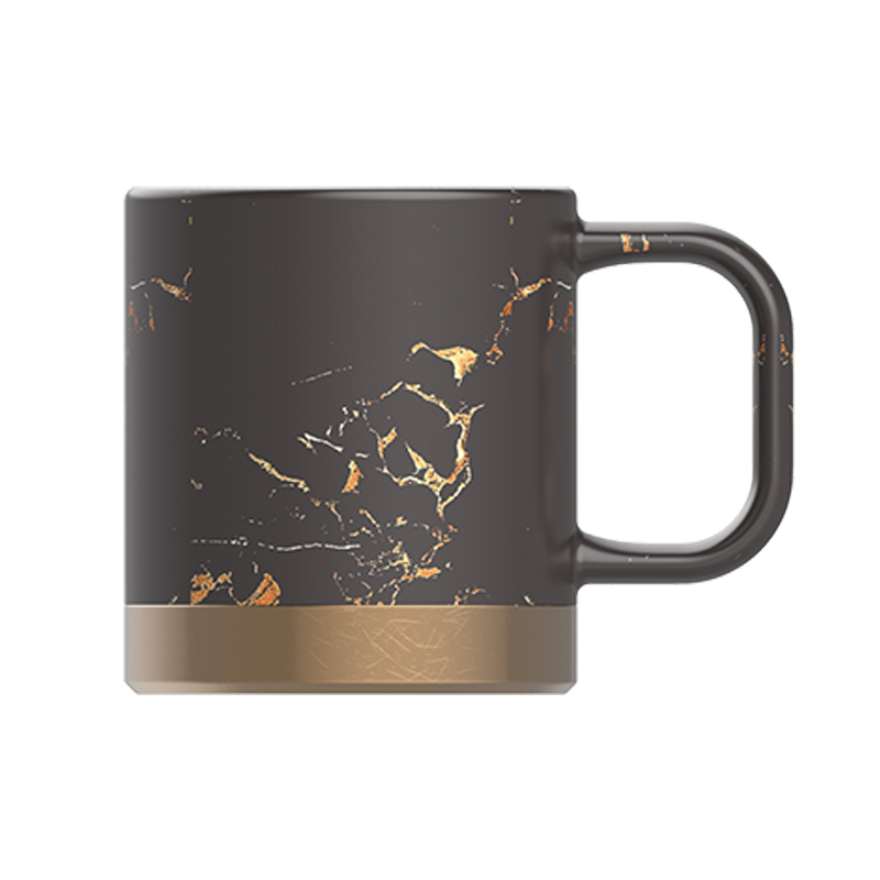 portopo black and gold coffee mug