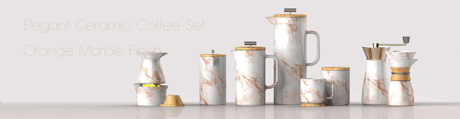 marble french press set